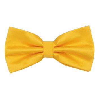 Men's bow tie (yellow, microfiber) 56031