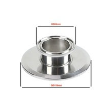 """Short Tri  Clamp Reducer  4""""(102mm)OD119mmx 2"""" (51mm)OD64mm,   height 25mm. SS 304 Stainless Steel"""