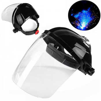 Transparent Welding Tool Welders Headset Protection Masks PVC Welding Helmets Anti-splash Droplets Safety Protective Equipment