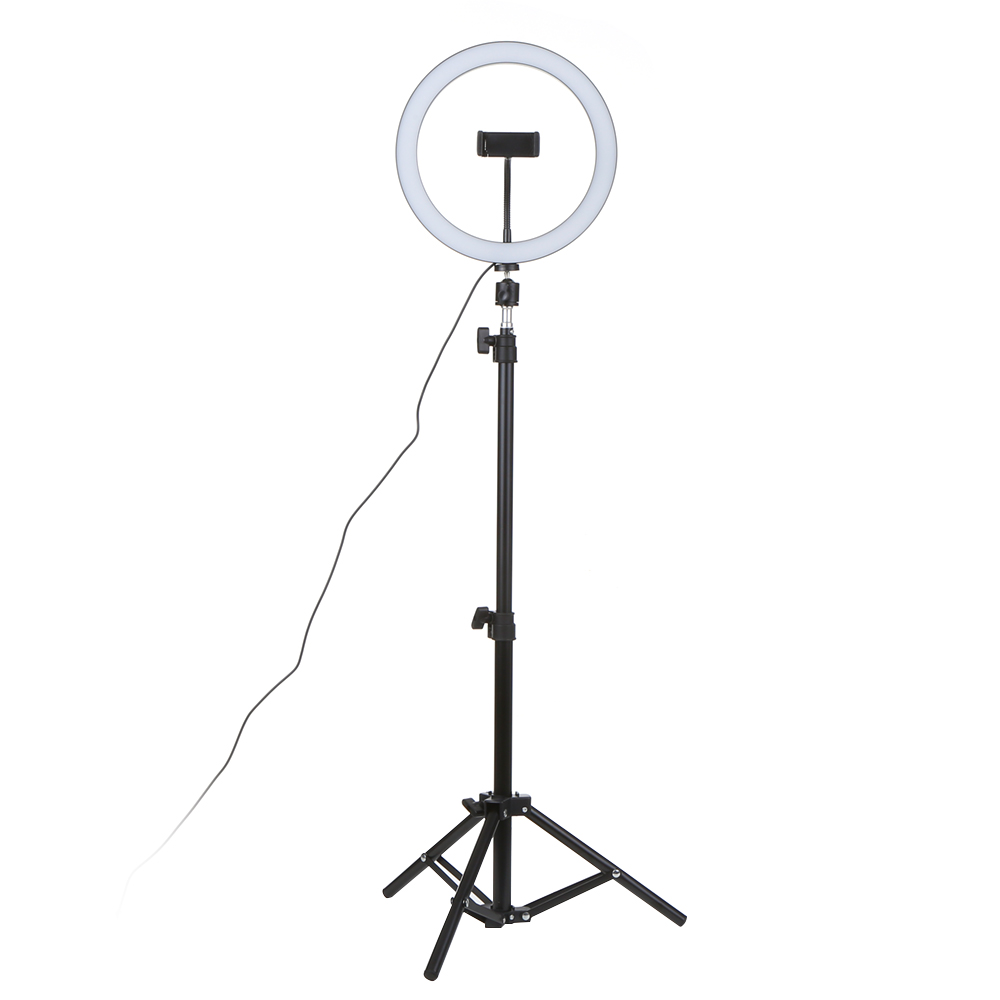 Selfie Lamp LED Studio Camera Ring Light Photo Phone Video Light Lamp With Tripods Selfie Stick Ring Table Fill Light For Canon