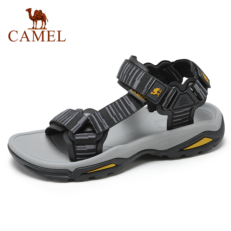 CAMEL Fashion Casual Breathable Comfortable High Quality Shoes Men Sandals Outdoor Non-slip Slippers Beach Hiking  Footwear