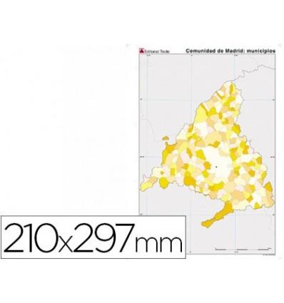 MAP MUTE COLOR DIN A4 MADRID POLITICO 100 Units