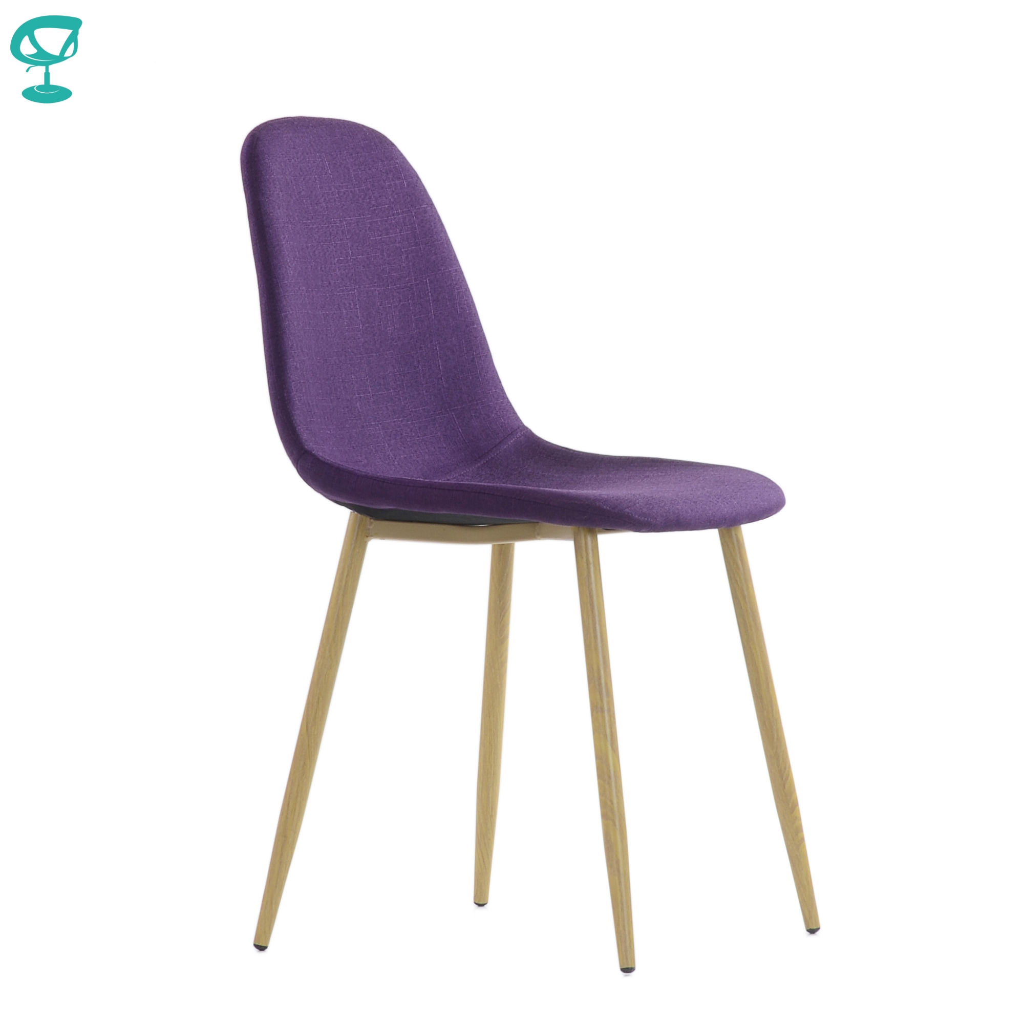95746 Barneo S-15 Kitchen Chair Legs Metal Seat Fabric Chair For Living Room Chair Dining Chair Table Chair Furniture For Kitchen