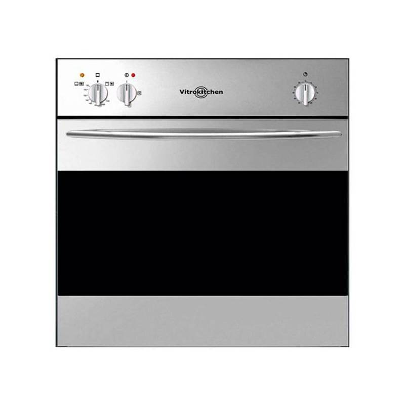 Gas Oven Vitrokitchen HG6IB 50 Black L Stainless Steel