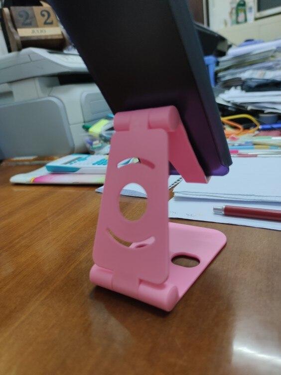 Soporte de smartphone plegable con doble bisagra