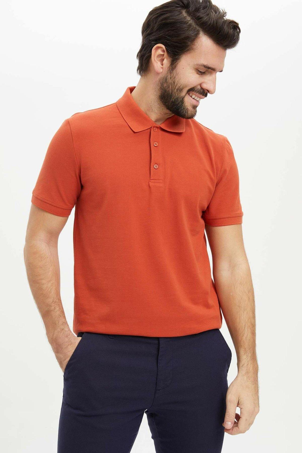 DeFacto Man T-Shirt Men Summer Short Sleeve Top Tees Men Casual T-Shirts Male Solid Color Top Tees-M7676AZ20SP