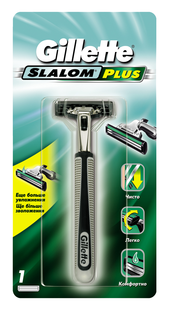 Gillette Slalom mens razor with 1 replaceable cartridge