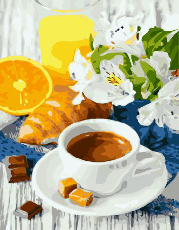 Painting By Numbers GX 31724 Coffee And Caramel 40*50