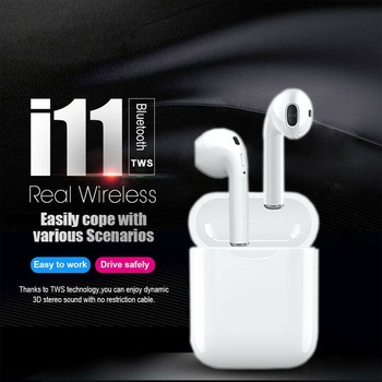цена на Original I11 TWS wireless headphone with good sound free shipping fast shipping