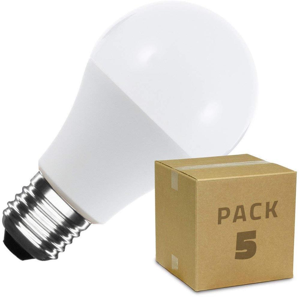 Pack 5 led light bulbs e27 A60 6W 9W|LED Bulbs & Tubes| |  - title=