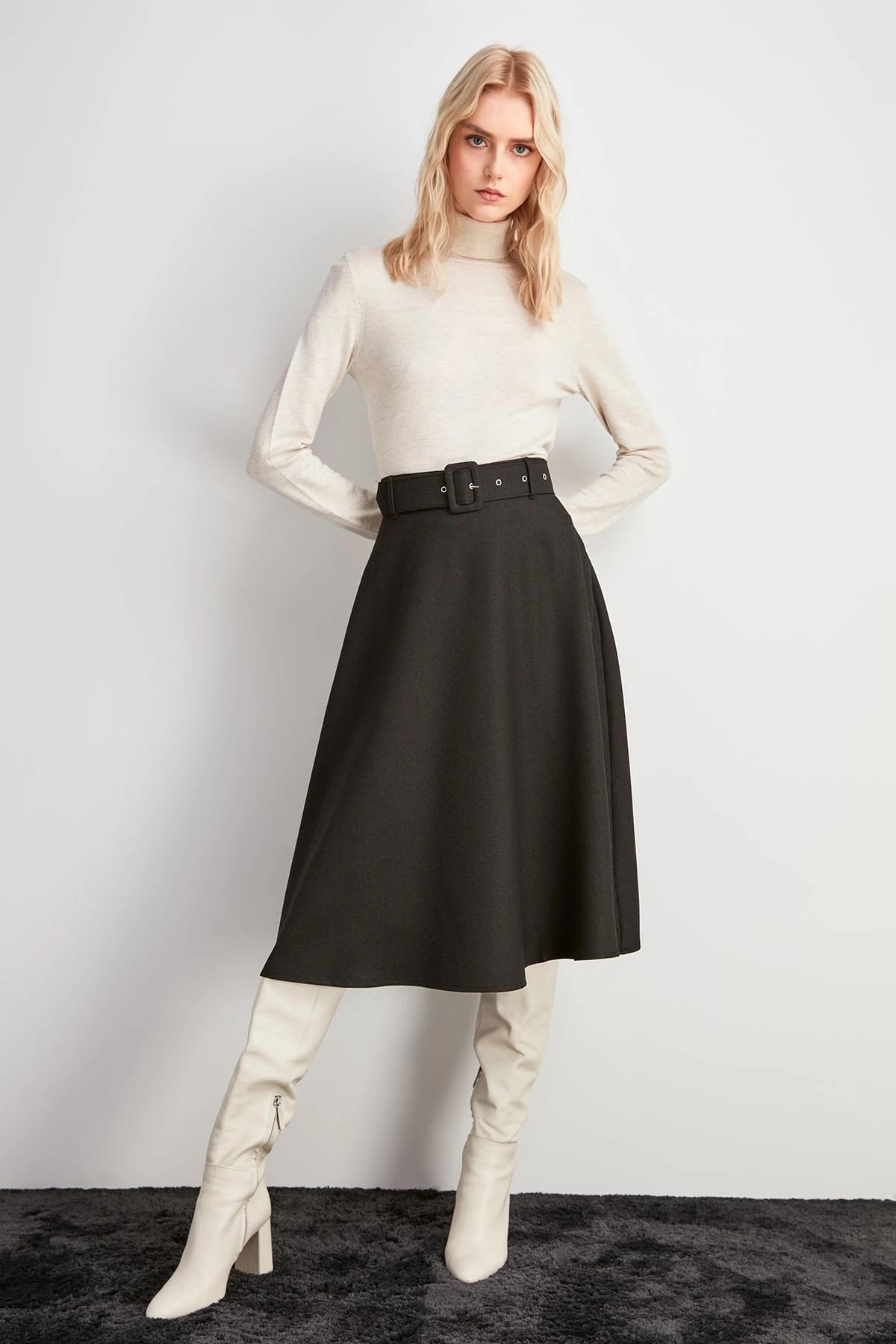 Trendyol юбка с поясом TWOAW20ET0604