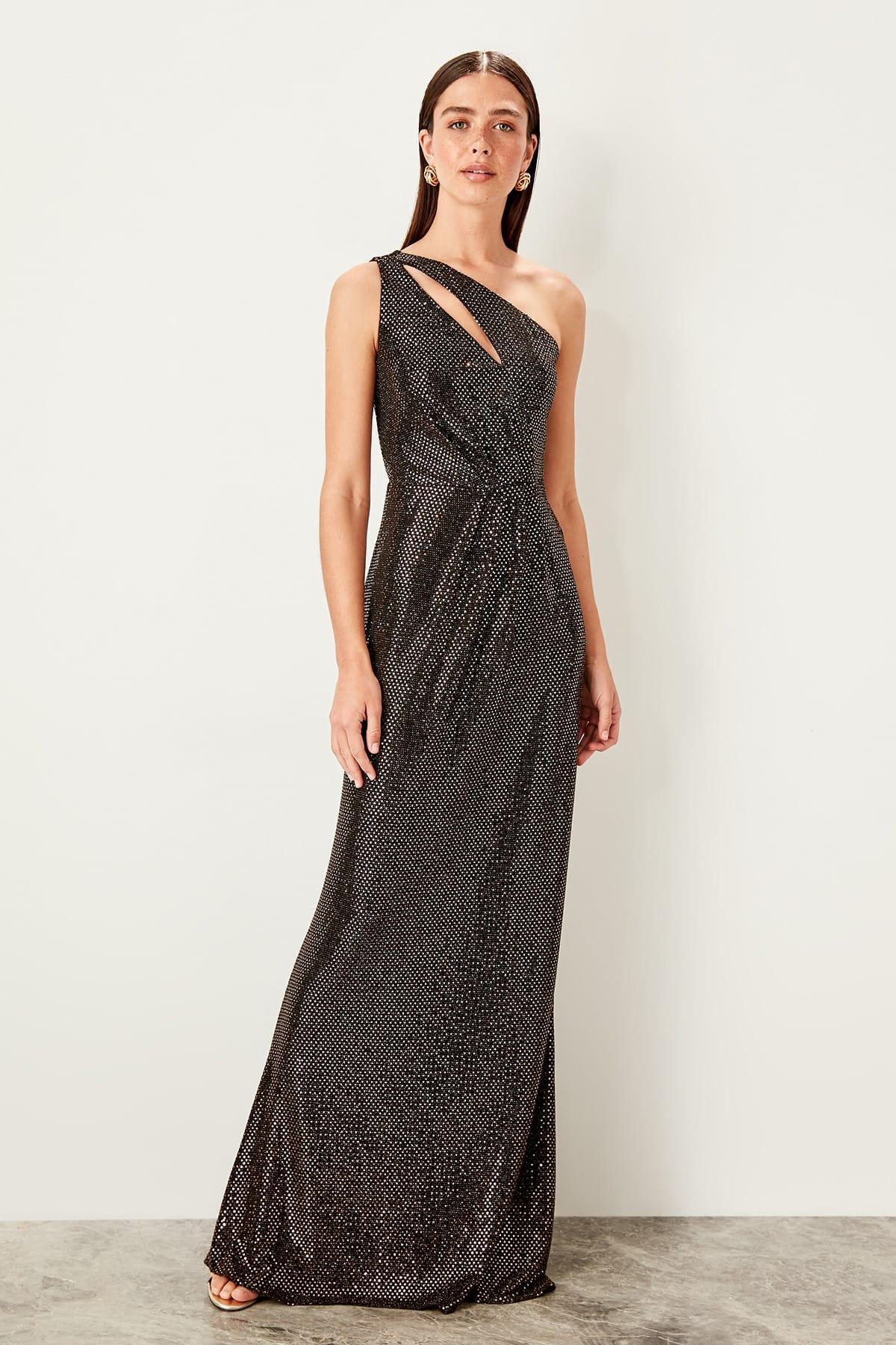 Trendyol Sequins Detailed Evening Dress TPRSS19UT0168