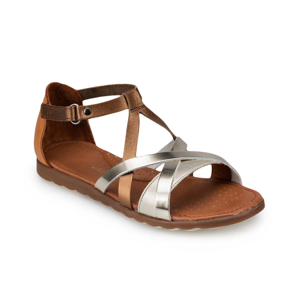 FLO 91. 510075.P Bronze Female Child Sandals Polaris
