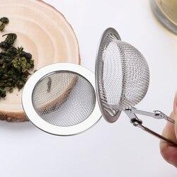 Esfera de acero inoxidable malla té infusor colador café hierba especias filtro difusor mango té bola
