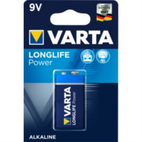 ALKALINE Battery 6LR61 9V LONGLIFE POWER VARTA