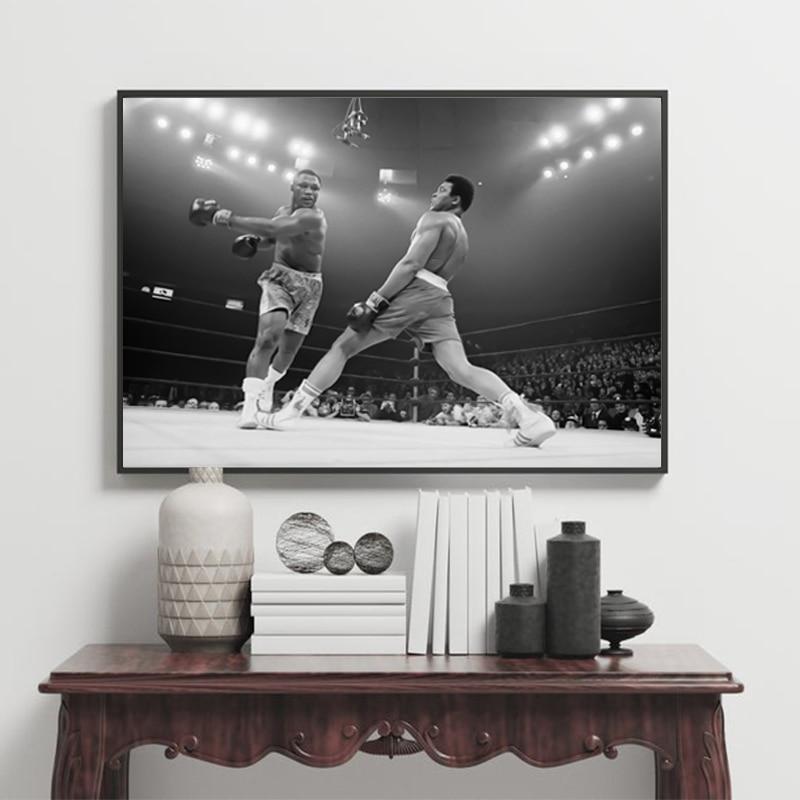 """Joe Frazier vs Muhammad Ali Poster Photo """"le combat du siècle"""" au Madison Square Garden à New York City impression sur toile décor"""