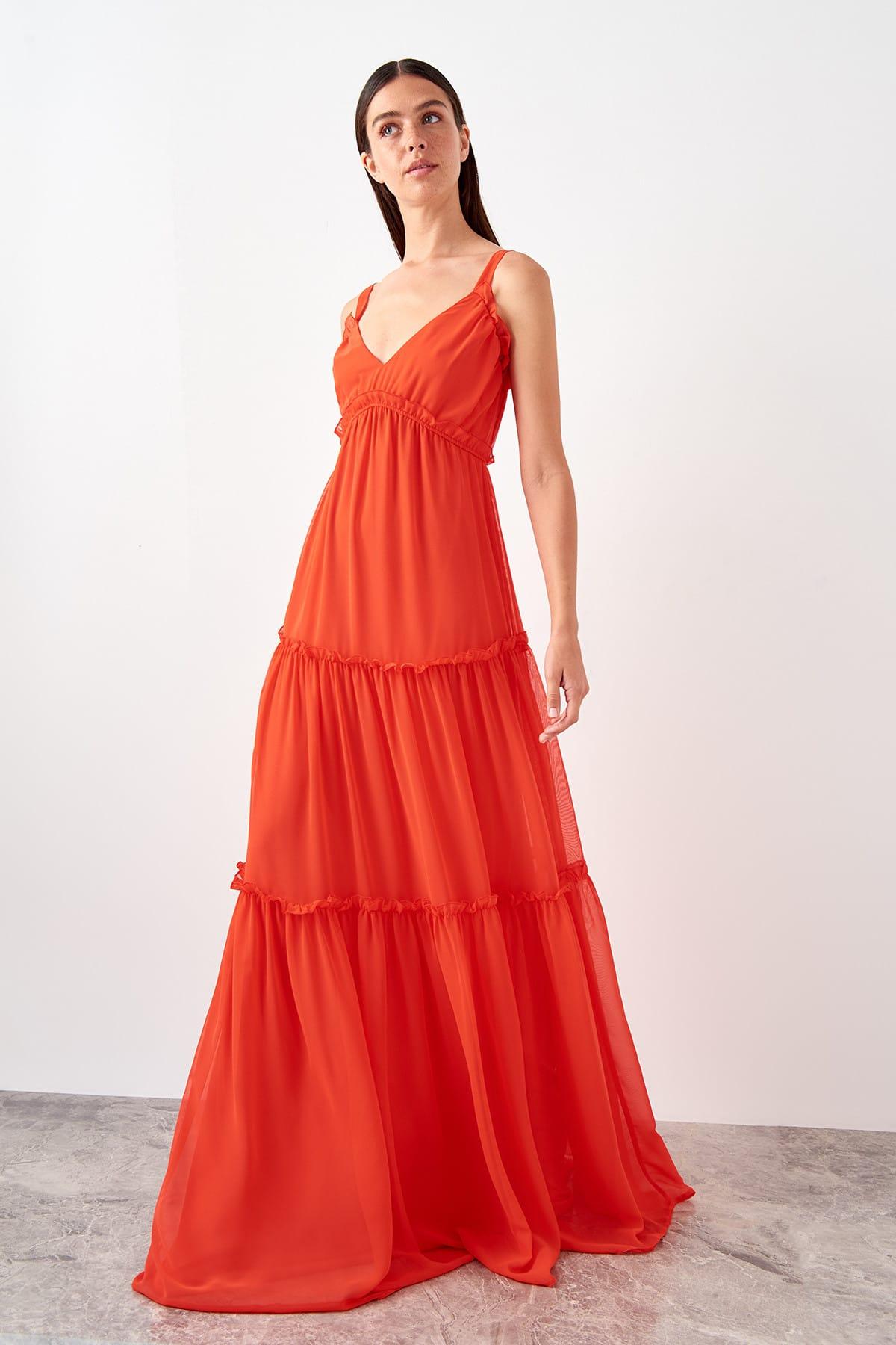 Trendyol Halter Evening Dress TPRSS19BB0548