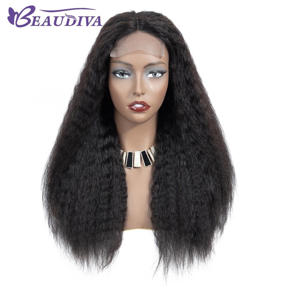 U87221af62e90486997c895402ed27448h Curly Haman Hair Wig Brazilian Kinky Straight 4*4 Lace Closure Prepluck with baby hair closure wig 100% Human Hair Wigs