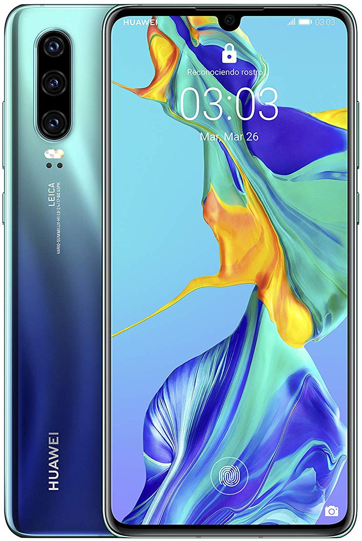 Huawei P30, Color Aurora Blue (Blue), Dual SIM, Internal 128 GB De Memoria, 6 Hard GB RAM, Screen 6.1