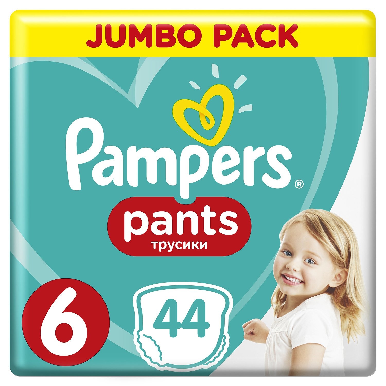 Подгузники Трусики Pampers Pants 15+ кг, размер 6, 44 шт.