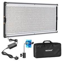 Neewer pode ser escurecido conduziu a iluminação conduzida da fotografia da luz de vídeo com grânulos do diodo emissor de luz do quadro do metal 3200-5600k, adaptador da c.c./opções de energia da bateria