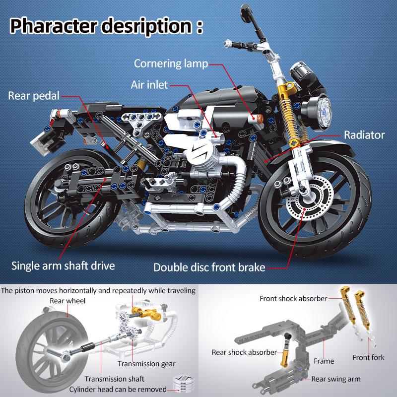Winner Technical DIY MOC Motorcycle Model Building Block