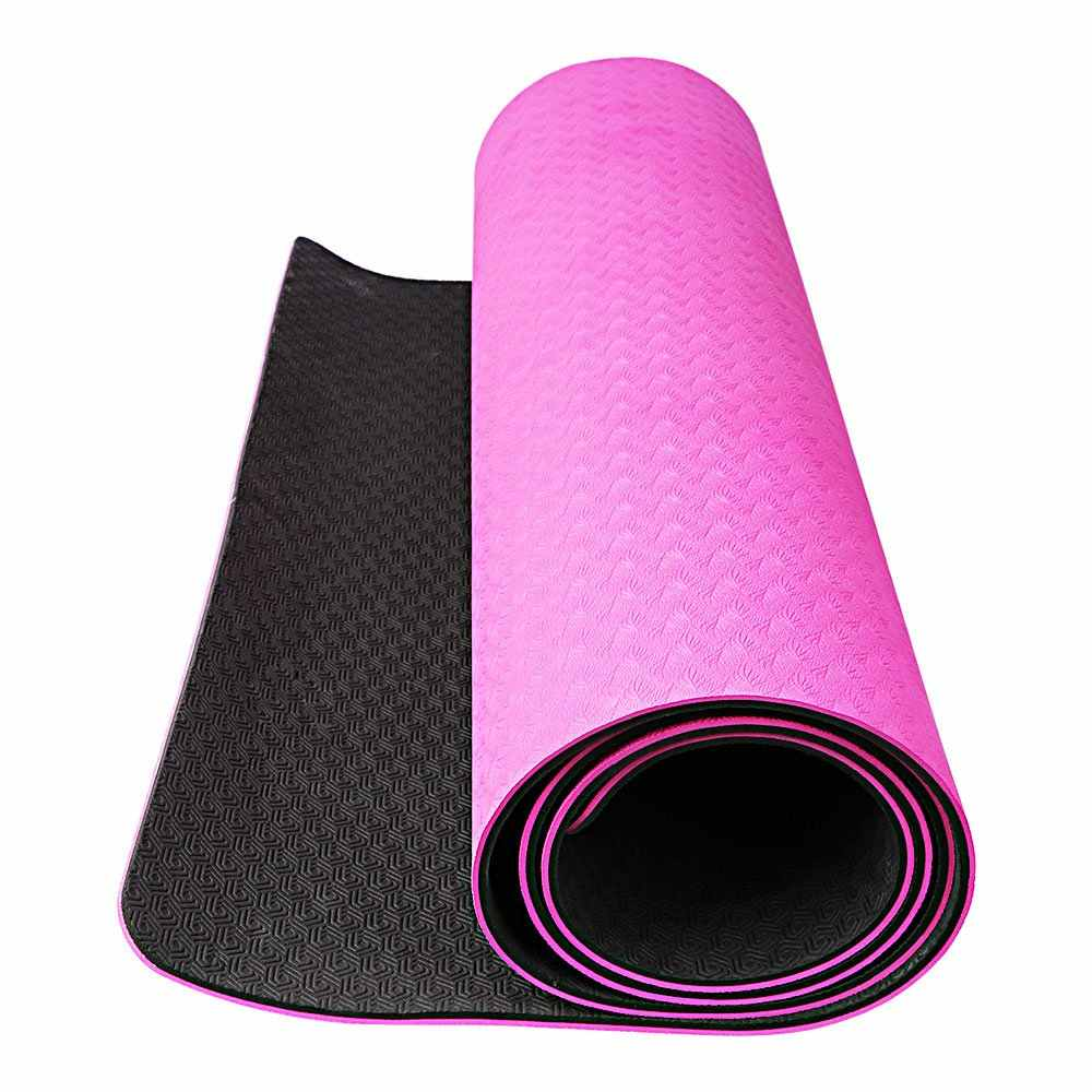 "OXA 6mm Extra Thick Yoga Mat 71""X 28"" with Carrying Strap and Belt,Non Slip and Anti-Tear Eco Friendly TPE Hot Pilates Mat"