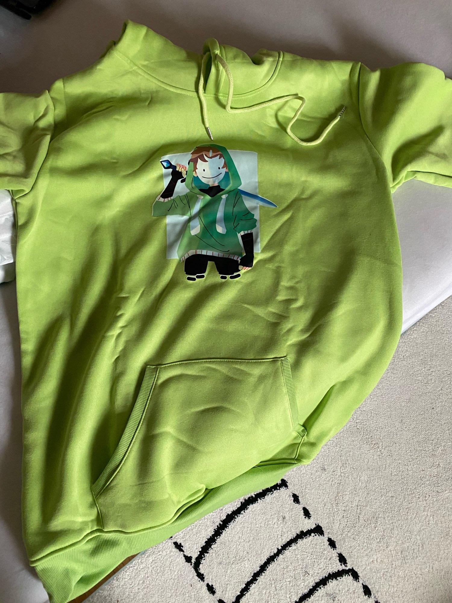 Dream Smp Hoodie Green Merch Con Capucha Sweatshirt Women/Men Smile Boys Take The Sword Pirnt Sudaderas Unisex Tops Nuevas Larga photo review