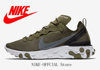 """Nike React Element 55 """"Olive"""" Men's ESSENTIAL Running Shoes Sport Breathable Outdoor Sneakers"""