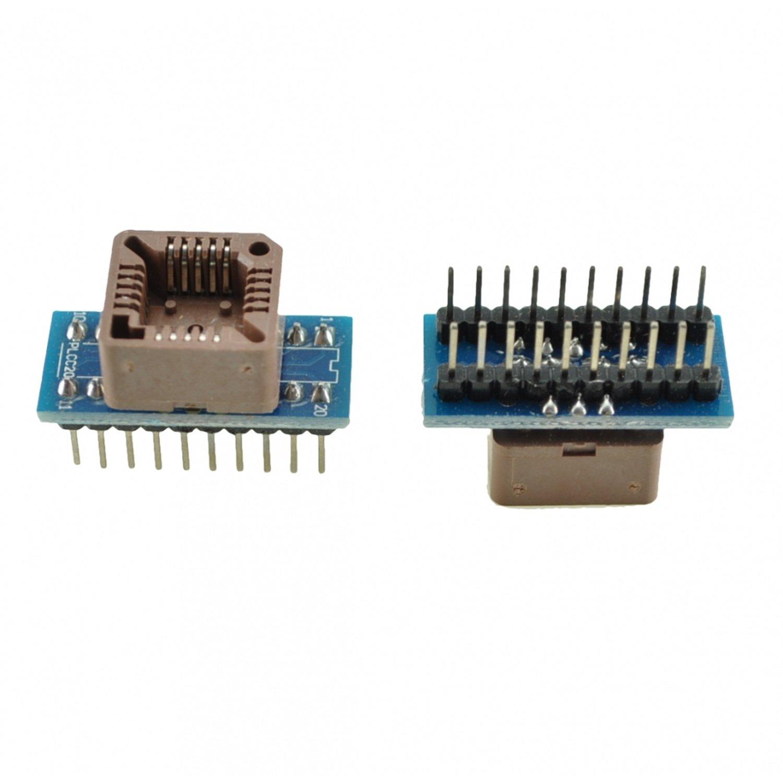 Programmer socket PLCC20 to DIP20 10pcs hd74ls373p dip20 hd74ls373 dip sn74ls373n 74ls373 new and original ic free shipping