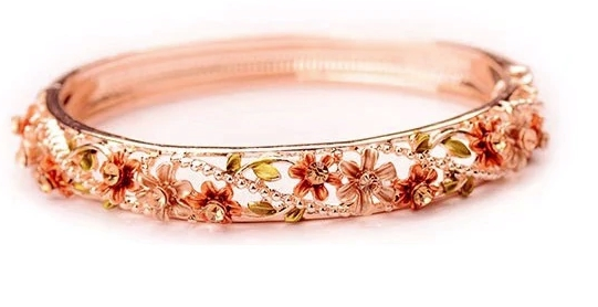 Palace vintage bracelet women's hand-painted delicate painted opening hollow flower bracelet accessories