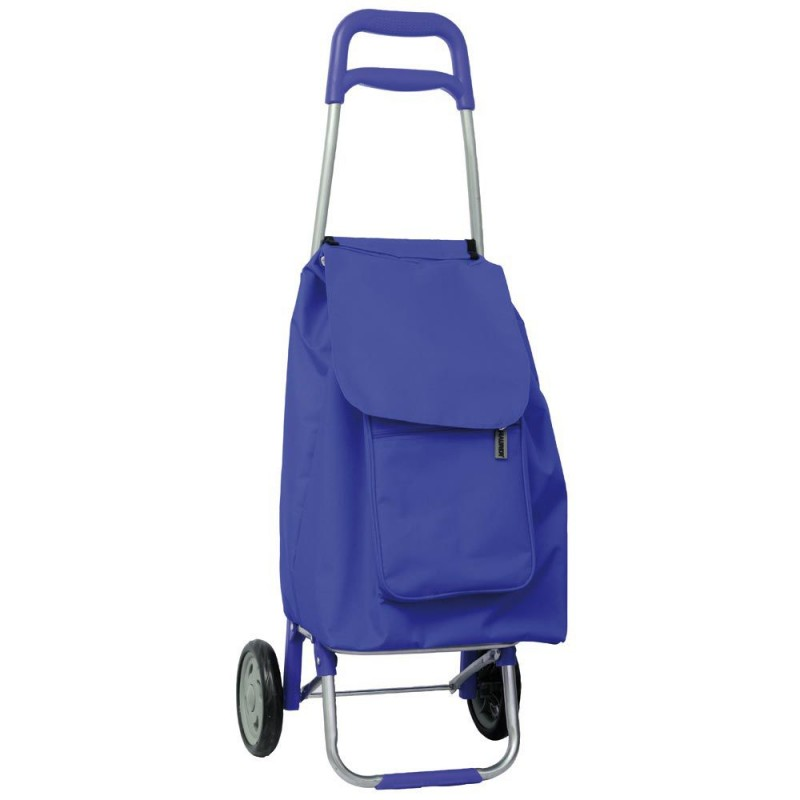 Shopping Cart Blue 2 Wheels 45 Liters