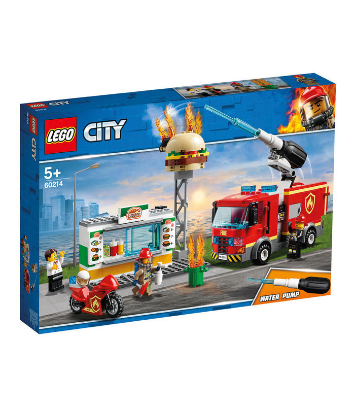 60214 LAYMAN Rescue Fire Burger Toy Store Articles Created Handbook