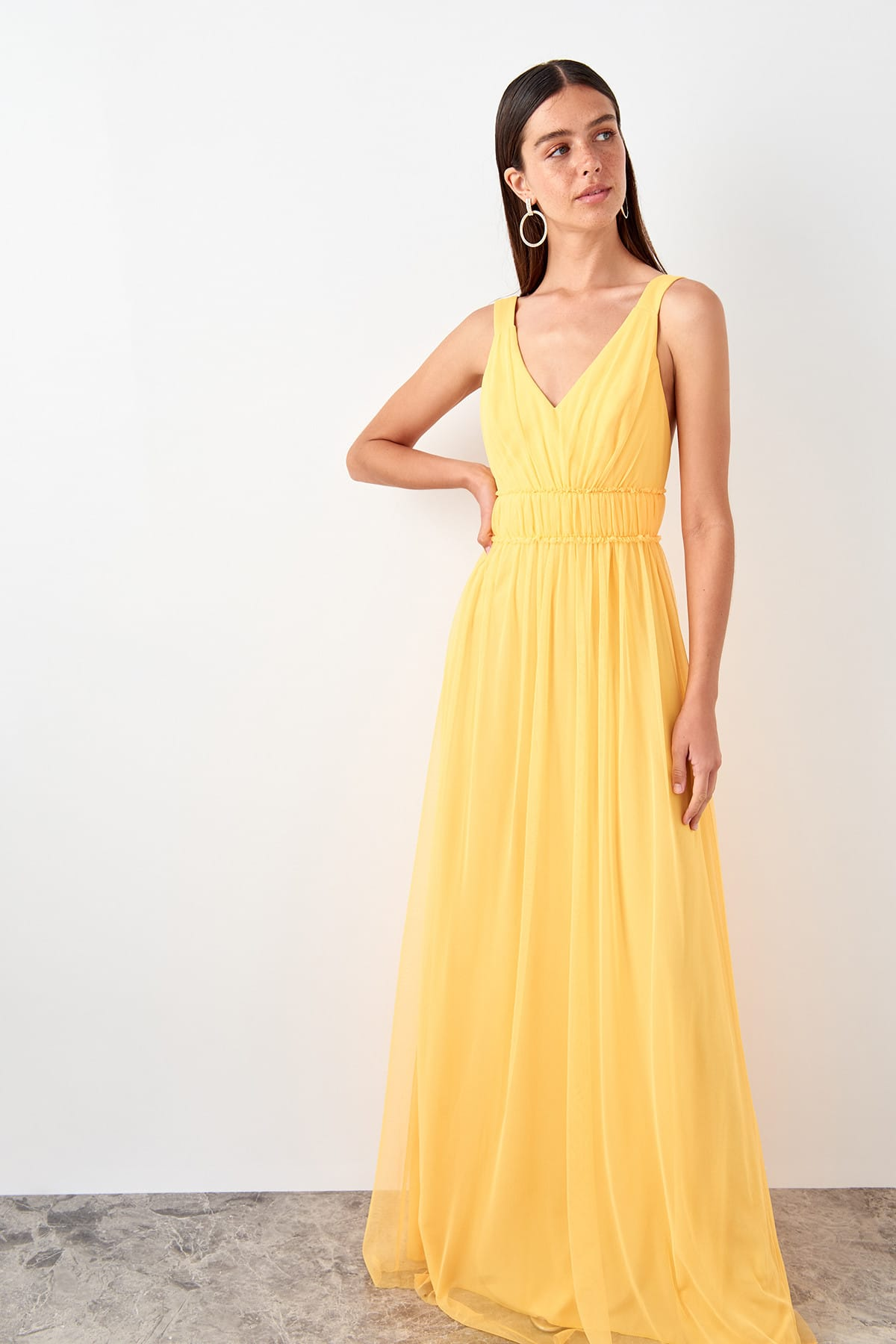 Trendyol Corsage Detailed Evening Dress TPRSS19AE0031