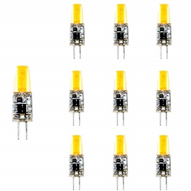 Lámpara Bombilla LED G4 LED COB 220V 6500 K luz fría 3 W, Equivalentes a 20W Halógena (10-Unidades) 6378