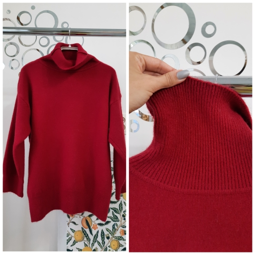 WYWM Turtle Neck Cashmere Sweater Women Korean Style Loose Warm Knitted Pullover 2021 Winter Outwear Lazy Oaf Female Jumpers photo review