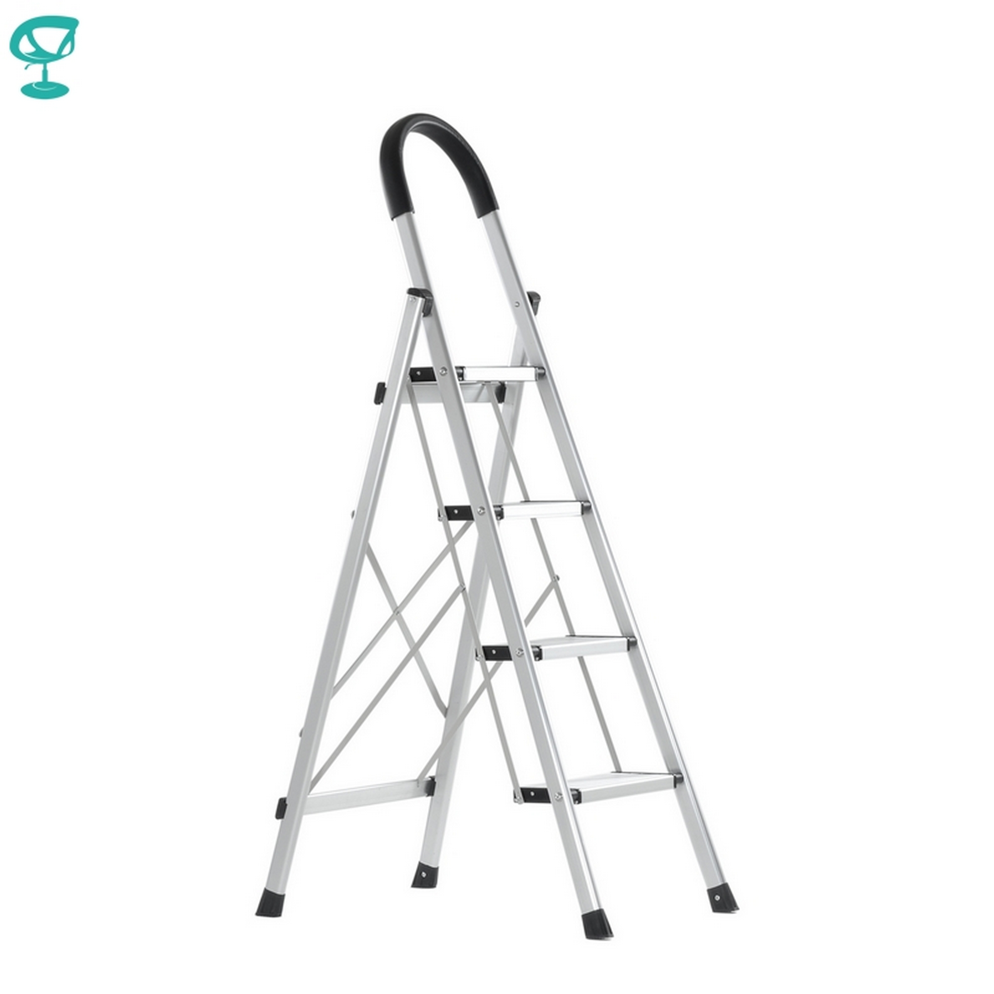 95675 Barneo ST-24 Ladder Aluminum 4 Steps Of Single Side Max Load 150 Kg Free Shipping To Russia