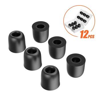 TENNMAK 12 sztuk bardzo mocny słuchawki z pianki Memory końcówki słuchawek dousznych Earpads końcówki douszne garnitur dla 4 5-6 0mm dysza słuchawki tanie i dobre opinie CN (pochodzenie) Nauszniki