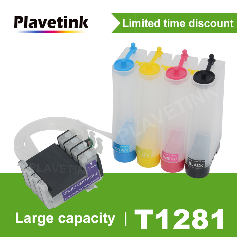 Plavetink T1281 CISS Ink Tank System For Epson Stylus S22 SX125 SX130 SX230 SX235W SX430W SX435W Printer With Reset Chip