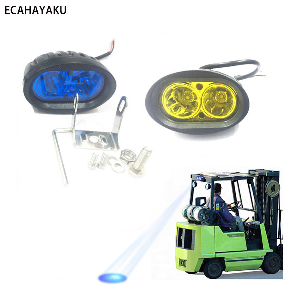 "ECAHAYAKU 10 PCS 3"" Oval Shape 20W LED Work Light IP67 PC Lens 6000K for Motorcycles Boats Mining Farm Vehicles 12V/24V Car LED"