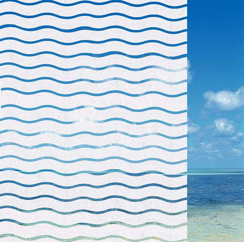 CGSignLab Welcome Nautical Wave Window Cling 36x24