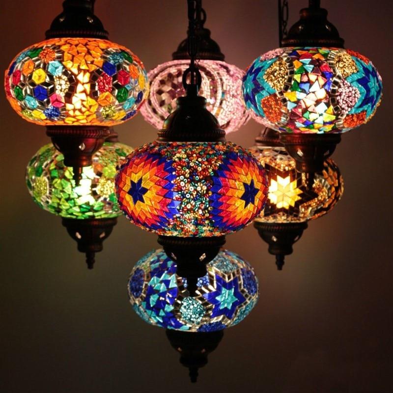 Mosaic Lamp Hanging Moroccan Marrakech