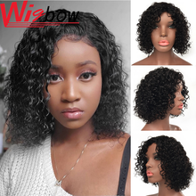Pixie Cut Deep Wave Wig Short Funmi Curly Hair For Black Women Pre-Plucked Wigs In Human Hair Brazilian Remy Hair Wigbow(China)