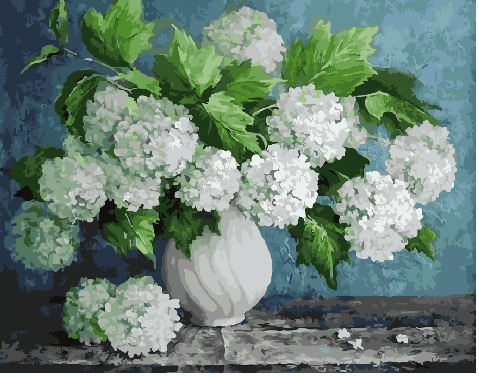 Painting By Numbers GX 29093 White Hydrangeas 40*50