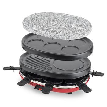 H. koenig RP412 Raclette 8 People, iron machine built house's Natural, Grill 900 W, Raclette Electric to Cook, steel Stainless недорого
