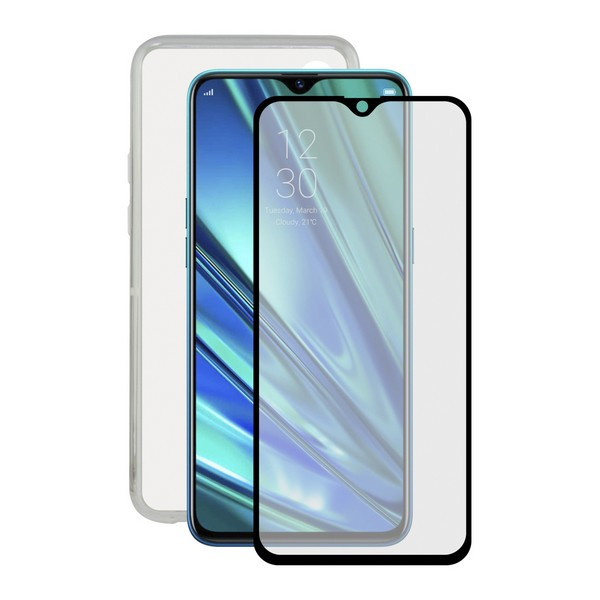 Tempered Glass Mobile Screen Protector + Mobile Case Realme X2 Contact|  - title=
