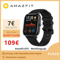 Amazfit gts relógio inteligente (reloj inteligente mujer hombre gps bluetooth deporte exterior android ios reloj xiaomi) [versión global]