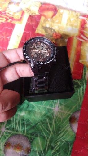 -- Relógio Forsining Transparente