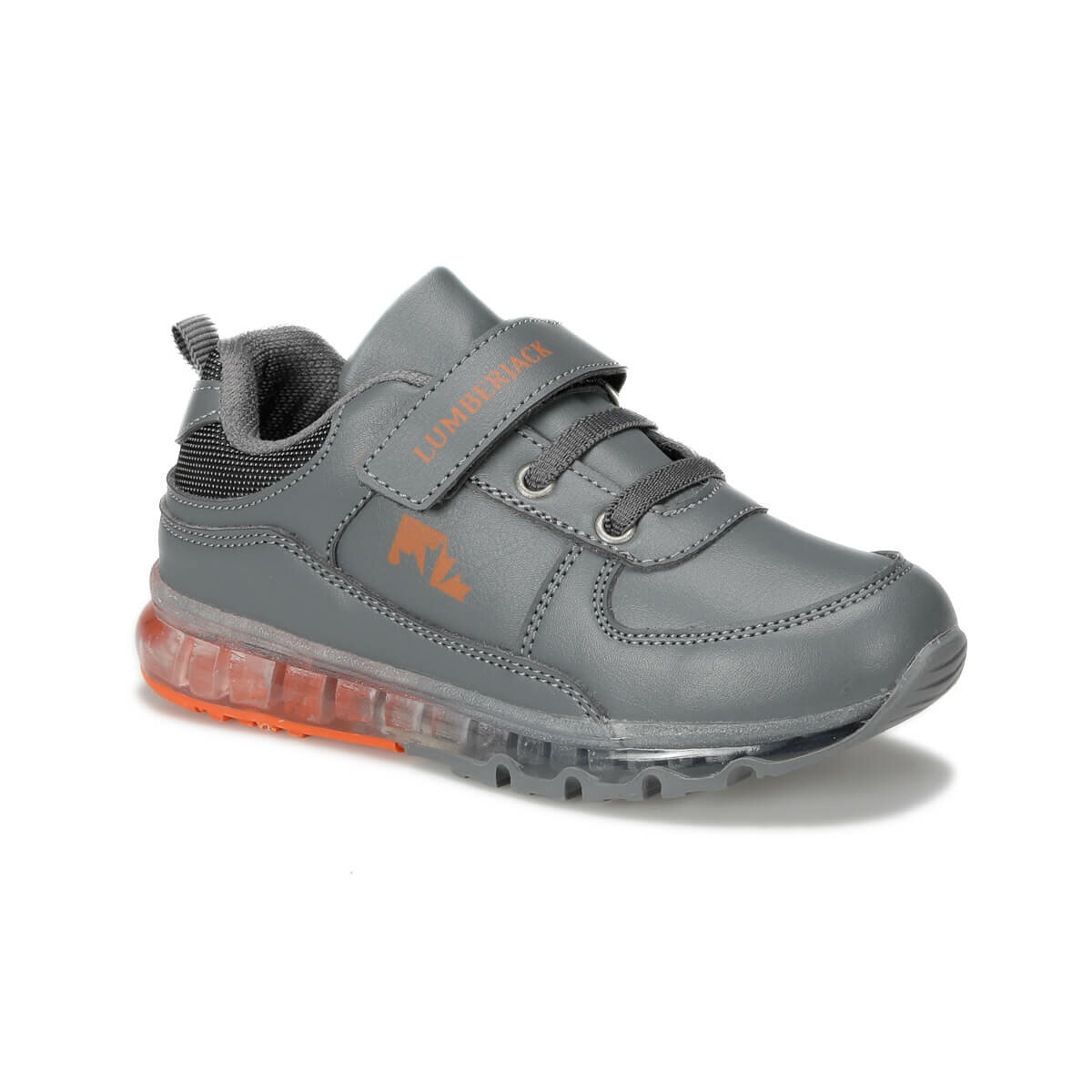 FLO CAP 9PR Dark Gray Male Child Sneaker Shoes LUMBERJACK