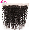 Brazilian Curly Deep Wave Hair Light Brown 13x4 Lace Frontal Closure Pre Plucked Baby Hair Human Hair Virgin Remy Hair Extension
